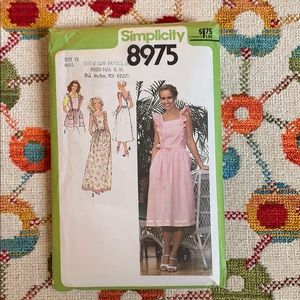 Vintage Simplicity Dress Sewing Pattern